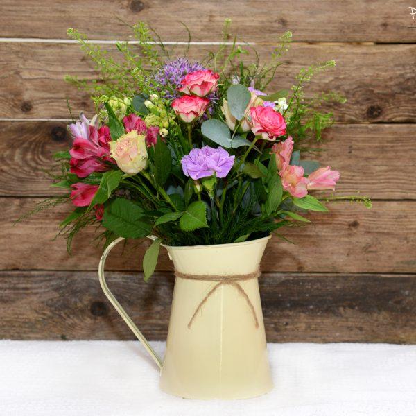 Vintage Jug Flower Arrangement