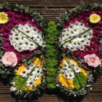 Swansea Funeral Flowers - Butterfly £150