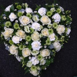 Funeral Flowers Online - Loose heart £75,£95,£130