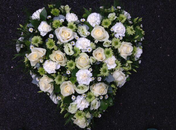 Funeral Flowers Online - Loose heart £75,£95,£130