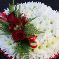 Swansea Funeral Flowers - Based Posy £50 / £80
