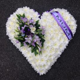 Funeral Flowers Swansea - Based Heart - £75 / £95