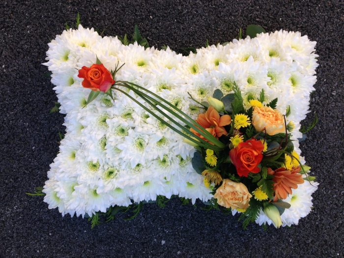 Funeral Flowers Swansea - Based Pillow £50 / £80