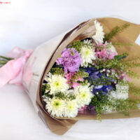 Loose hand tied bouquet Swansea