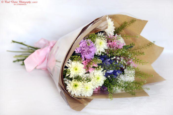 Loose hand tied bouquet Swansea