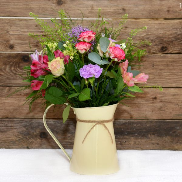 Vintage Jug Flower Arrangement