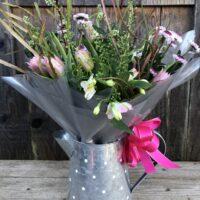 Flowers in a Vintage Jug Gift Bouquet - send flowers in Swansea