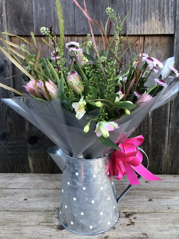 Flowers in a Vintage Jug Gift Bouquet - send flowers in Swansea