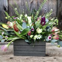 Garden Trough Gift Bouquet - send flowers in Swansea