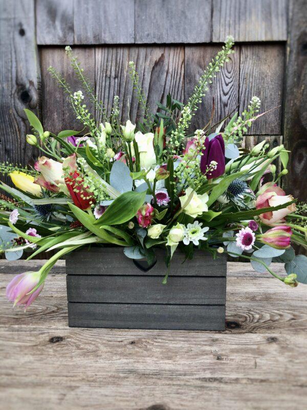 Garden Trough Gift Bouquet - send flowers in Swansea