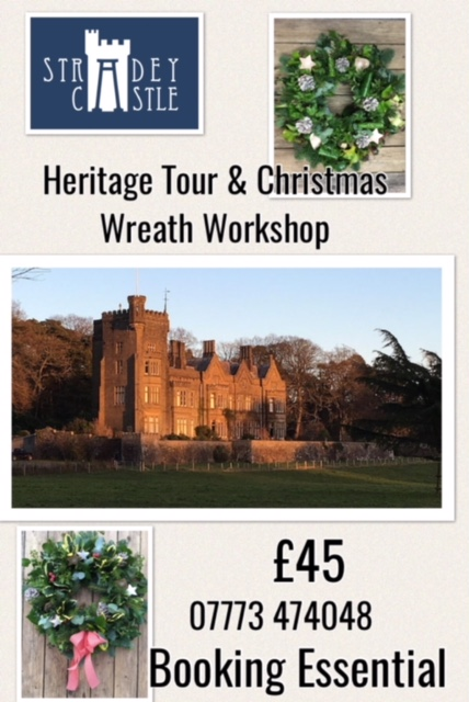 Stradey Castle Christmas Wreath Workshop 2018
