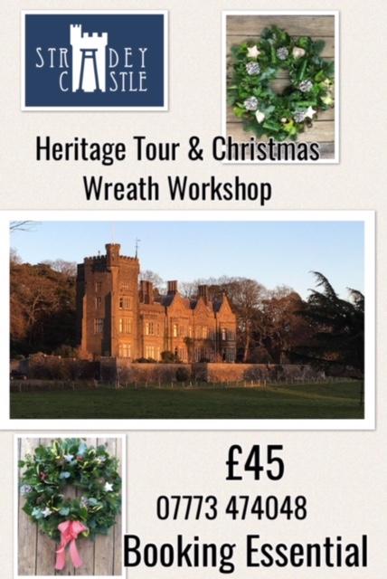 Stradey Castle Christmas Wreath Workshop 2018