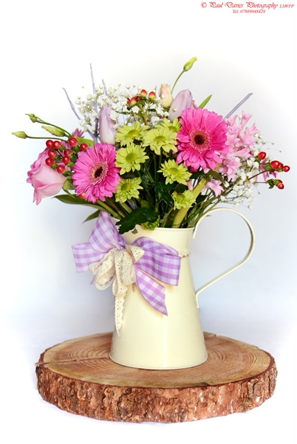 Vintage Jug Flower Bouquet Gift in Swansea
